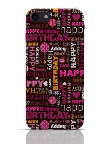Happy Birthday Pattern  iPhone 7 Covers Cases Online India