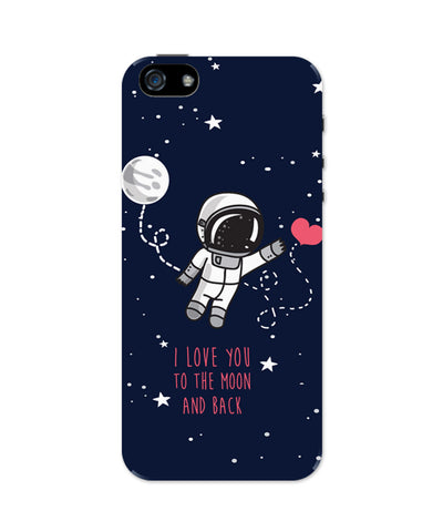 Apple 5 : I love you to the moon and back iPhone 5/5S case | PosterGuy