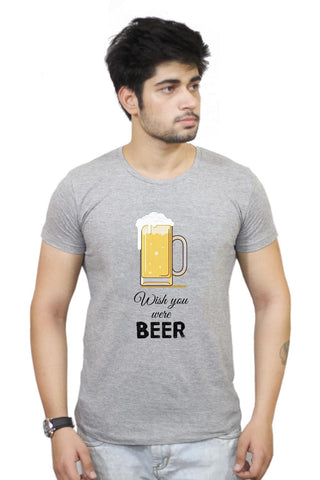 Buy Wish You Were Beer | (Black) T-Shirts Online India | Wish You Were Beer | (Black) T-Shirt | PosterGuy.in