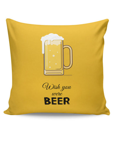 PosterGuy | Wish You Were Beer | (Black) Cushion Cover Online India