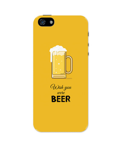 iPhone 5 / 5S Cases & Covers | Wish You Were Beer | (Black) iPhone 5 / 5S Case Online India