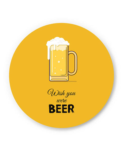 PosterGuy | Wish You Were Beer | (Black) Fridge Magnet Online India by Arwa