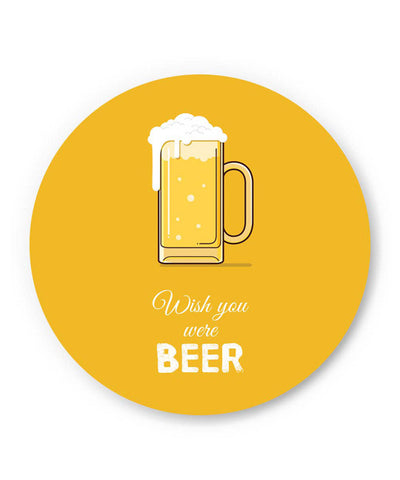 PosterGuy | Wish You Were Beer | (White) Fridge Magnet Online India by Arwa