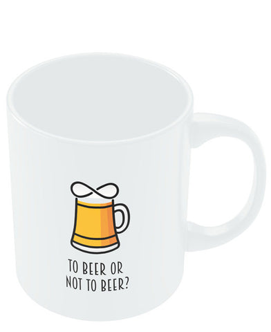 Coffee Mugs Online | To Beer or Not to Beer | Funny Quote Mug Online India