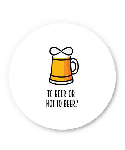 PosterGuy | To Beer or Not to Beer | Funny Quote Fridge Magnet Online India by Arwa