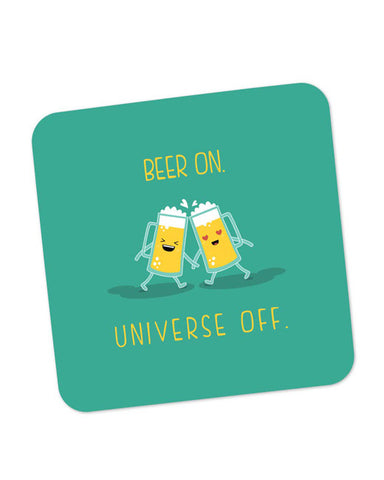 Buy Coasters Online | Beer On Universe Off | Coaster Online India | PosterGuy.in