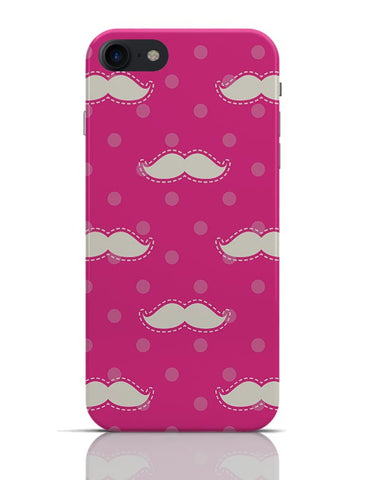 Pink Moustache Quirky Pattern  iPhone 7 Covers Cases Online India