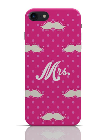 Mrs. Moustache Quirky Pattern  iPhone 7 Covers Cases Online India