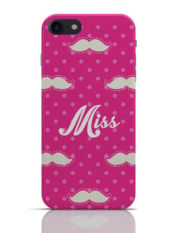Miss Moustache Quirky Pattern  iPhone 7 Covers Cases Online India