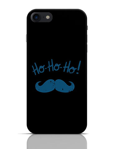 Ho-Ho-Ho Moustache (Blue) iPhone 7 Covers Cases Online India