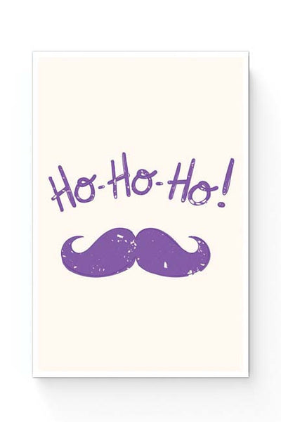 Posters Online | Ho-Ho-Ho (Purple) Moustcahe Poster Online India | Designed by: Arwa