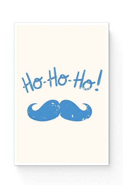 Posters Online | Ho-Ho-Ho (Light Blue) Moustcahe Poster Online India | Designed by: Arwa