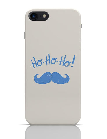 Ho-Ho-Ho (Light Blue) Moustcahe iPhone 7 Covers Cases Online India