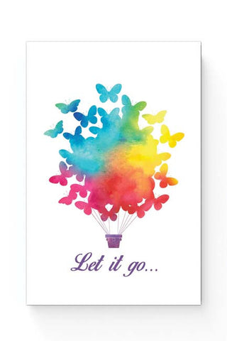 Posters Online | Let It Go | Free Birds Illustraion Poster Online India | Designed by: Arwa