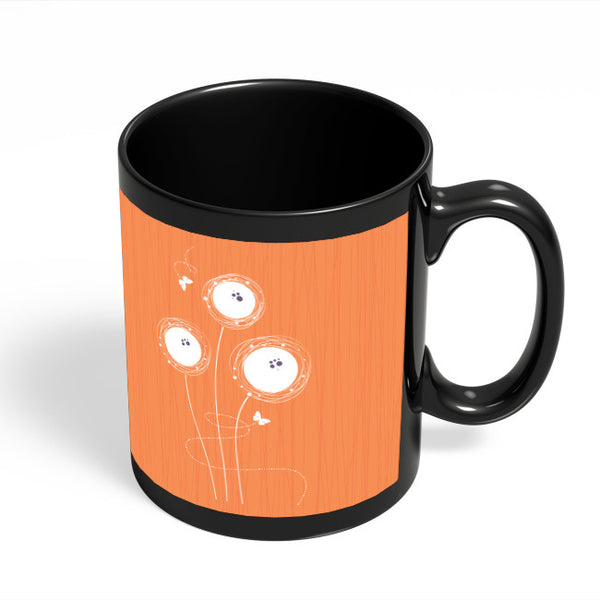 Coffee Mugs Online | Butterfly Art Illustration Black Coffee Mug Online India