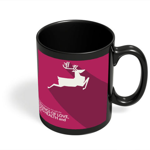 Coffee Mugs Online | Minimal Reindeer Black Coffee Mug Online India