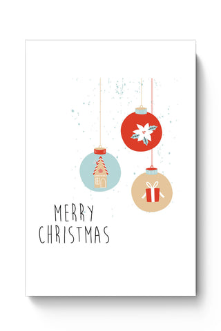 Posters Online | Christmas Balls Poster Online India | Designed by: Arwa