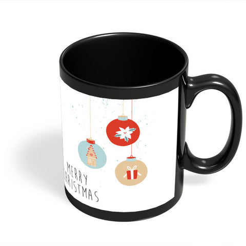 Coffee Mugs Online | Christmas Balls Black Coffee Mug Online India