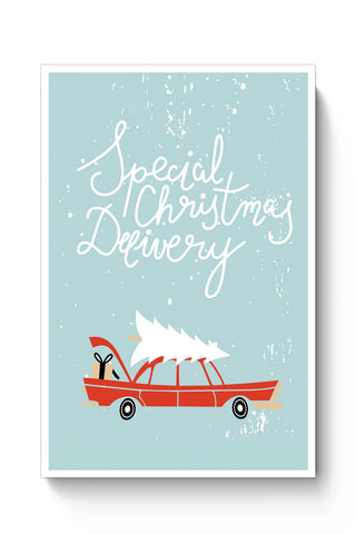 Posters Online | Special Christmas Delivery Poster Online India | Designed by: Arwa