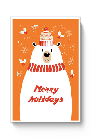 Posters Online | Merry Holidays Poster Online India | Designed by: Arwa