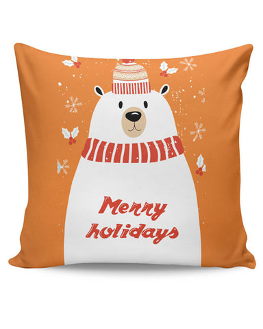 PosterGuy | Merry Holidays Cushion Cover Online India