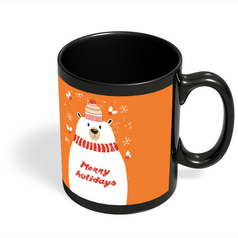Coffee Mugs Online | Merry Holidays Black Coffee Mug Online India