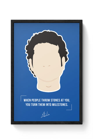 Framed Posters Online India | Sachin illustration Laminated Framed Poster Online India