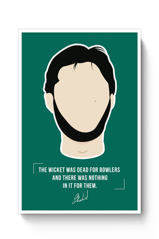 Posters Online | Shahid Afridi Illustration Poster Online India | Designed by: Arwa