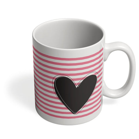 Coffee Mugs Online | Pink Stripes With Heart Mug Online India