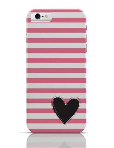 iPhone 6 Covers & Cases | Pink Stripes With Heart iPhone 6 Case Online India