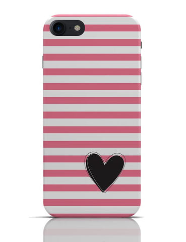 Pink Stripes With Heart iPhone 7 Covers Cases Online India