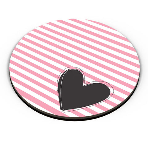 PosterGuy | Pink Stripes With Heart Fridge Magnet Online India by Arwa