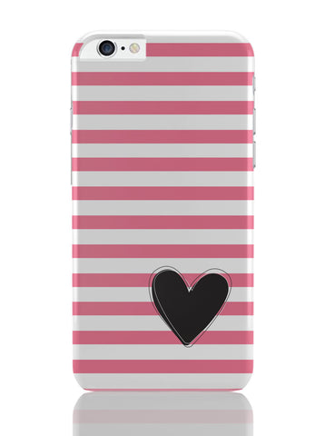 iPhone 6 Plus/iPhone 6S Plus Covers | Pink Stripes With Heart iPhone 6 Plus / 6S Plus Covers Online India