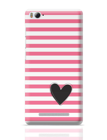 Xiaomi Mi 4i Covers | Pink Stripes With Heart Xiaomi Mi 4i Cover Online India