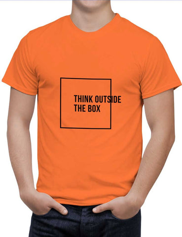 Buy Think Outside The Box Woman T-Shirts Online India | Think Outside The Box T-Shirt | PosterGuy.in