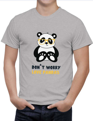 Buy Don'T Worry Love Pandas Woman T-Shirts Online India | Don'T Worry Love Pandas T-Shirt | PosterGuy.in