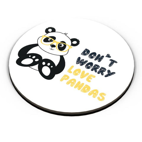 PosterGuy | Don'T Worry Love Pandas Fridge Magnet Online India by Arwa