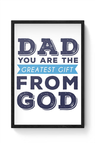 My Dad The Best Framed Poster Online India