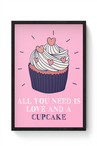 Cupcake is Love! Framed Poster Online India