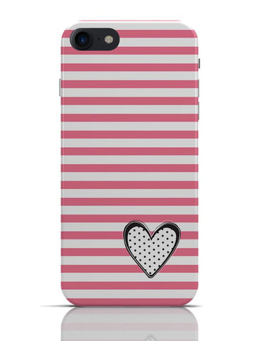 Stripes & Heart iPhone 7 Covers Cases Online India