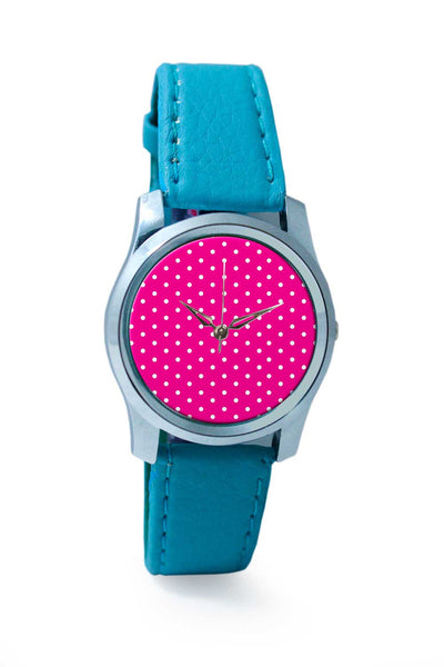 Women Wrist Watch India | Pink Polka Dots Wrist Watch Online India