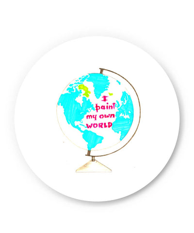 PosterGuy | I Paint My Own World Fridge Magnet Online India by Pranjali's Creative Factory
