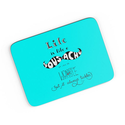 Moustaches Life A4 Mousepad Online India