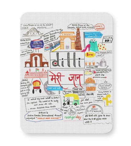 Buy Mousepads Online India | Dilli Meri Jaan Mouse Pad Online India