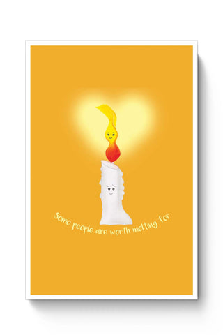 Posters Online | Candle Light Love Poster Online India | Designed by: Pranjali's Artavia