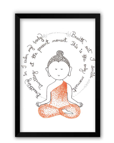 Framed Posters | Lord Buddha Spiritual Advice Laminated Framed Poster Online India