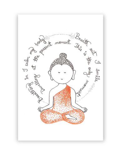 Posters Online | Lord Buddha Spiritual Advice Poster Online India | Designed by: Sayli