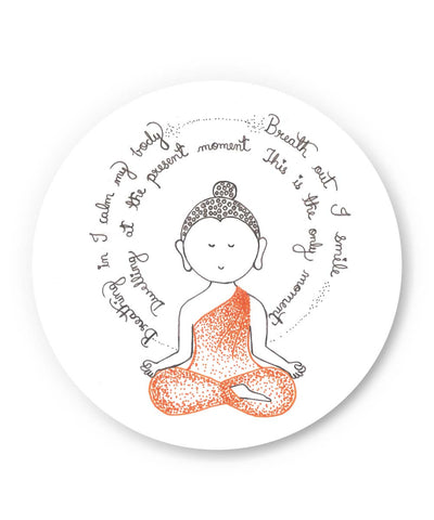 PosterGuy | Lord Buddha Spiritual Advice Fridge Magnet Online India by Sayli
