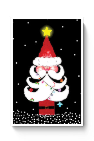 Posters Online | Cute Santa Tree Poster Online India | Designed by: Sayli
