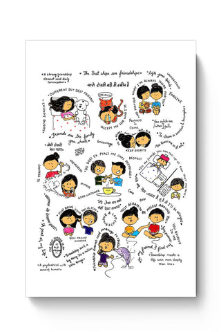 Friendship, Friend, Friendship Day, Doodle,Typography  Poster Online India